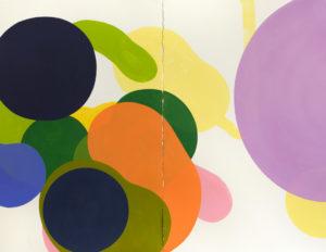 Sans titre, huile sur papier 130x100, œuvre de l'artiste Zuzana Hulka, Paris 2016-2017